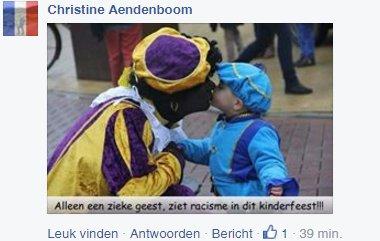 Reactie op FB Zwarte Piet